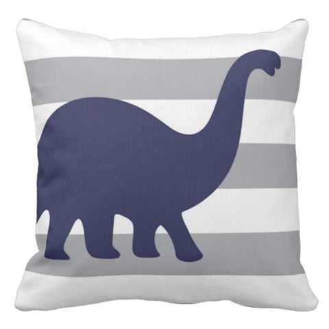 Dino Rawr Decorative Pillow Case 16 x 16 Inch