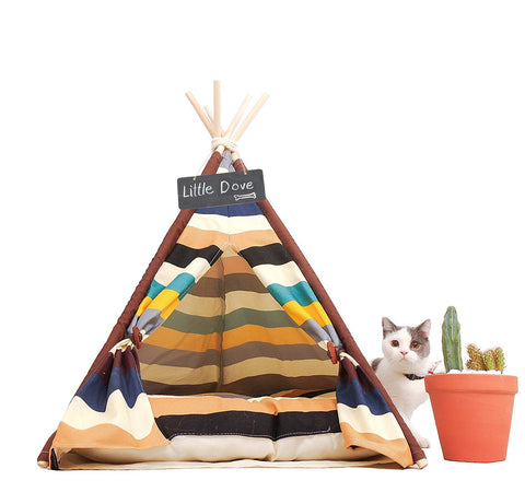 Pet Teepee - Colorful Style 24 Inch