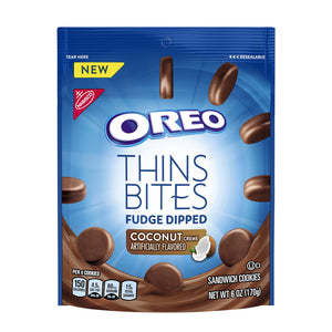 Oreo Thins Bites Fudge Dipped Coconut (170g)