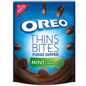 Oreo Thins Bites Fudge Dipped Mint (170g)