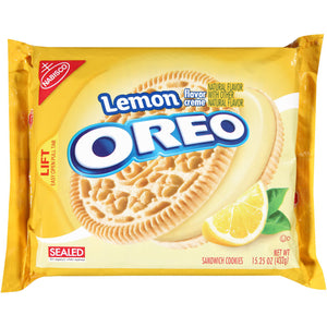 Oreo Lemon Sandwich Cookies (432g)