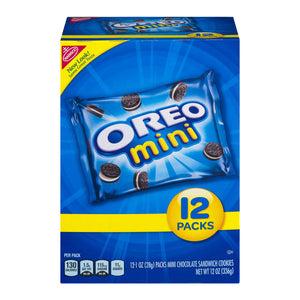 Oreo Mini Oreo Chocolate Sandwich Snack Packs (12pk) (340g)
