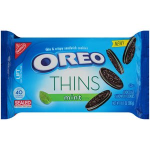 Oreo Thins Chocolate Cool Mint Creme Sandwich Cookies (286g)