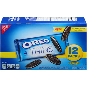 Oreo Thins Cookies Snacks (12x30g)