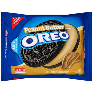 Oreo Chocolate Peanut Butter Creme Sandwich Cookies (432g)
