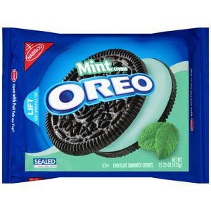Oreo Chocolate Cool Mint Creme Sandwich Cookies (432g)