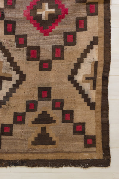Camel and Red Navajo Rug