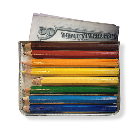 Artist Pencils Printed Minimal Wallet