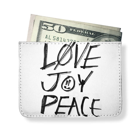 Love Joy Peace Printed Minimal Wallet