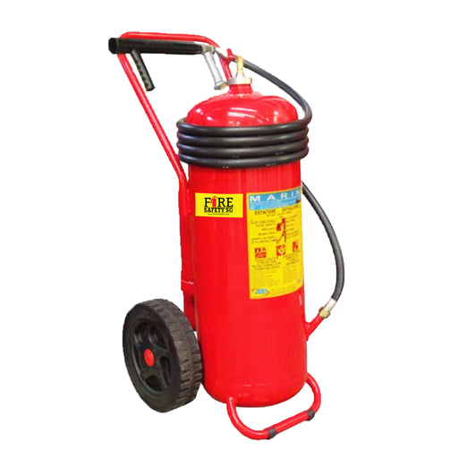 50KG ABC ABS Marine Trolley Cartridge Fire Extinguisher