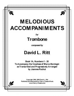 Bordogni - Melodious Accompaniments for Trombone, Book 1A, Numbers 1-20