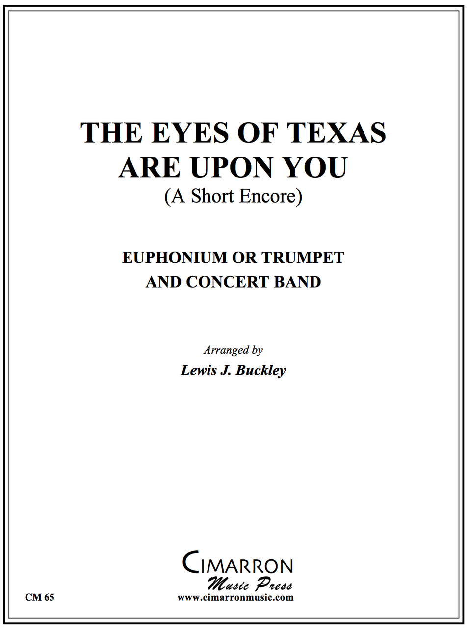 Trad - The Eyes of Texas Are Upon You - Euphonium Or Trumpet And Concert Band