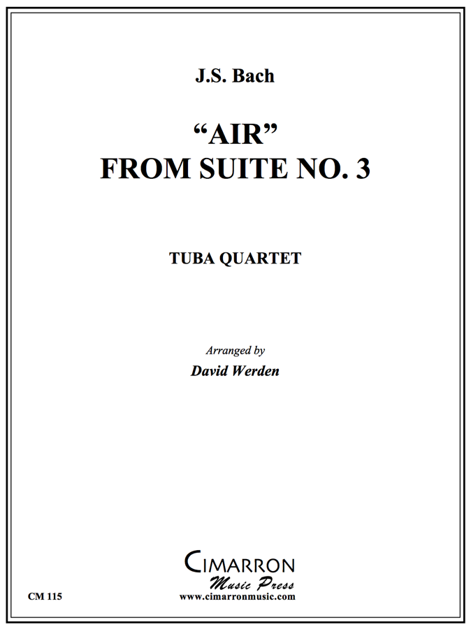 Bach - AIR FROM SUITE NO. 3 - Tuba Quartet (EETT)