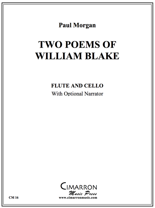 Morgan - Two Poems of William Blake - Flute and Cello