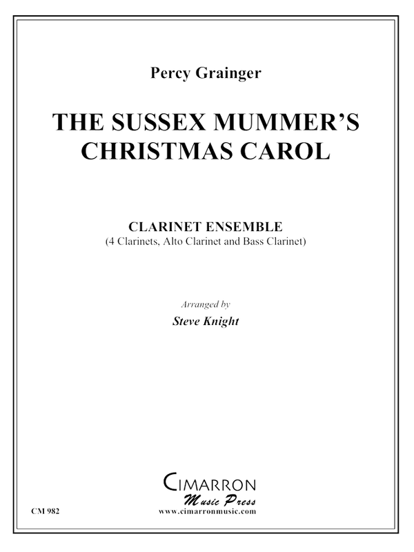 Grainger - Sussex Mummers Christmas Carol - Clarinet Choir