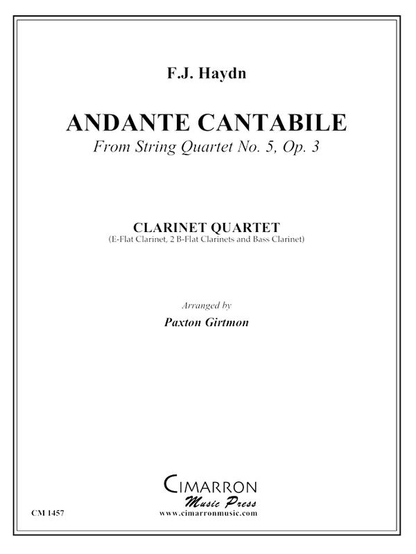 Haydn - Andante cantabile from String Quartet No. 5, Op. 3 - Clarinet Quartet