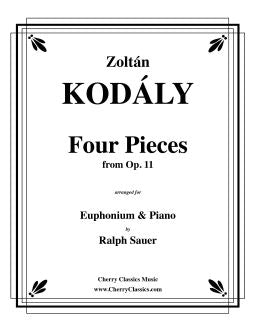 Kodaly – Four Pieces from Op. 11 for Euphonium & Piano