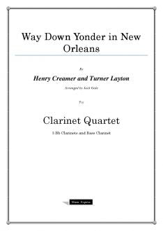 Traditional - Way Down Yonder in New Orleans - Clarinet Quartet