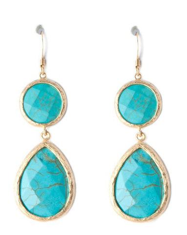 Medium Double Drop Earrings