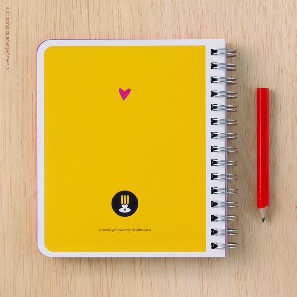 Foxy Family Spiral Notebook - Yellow Pencil Studio