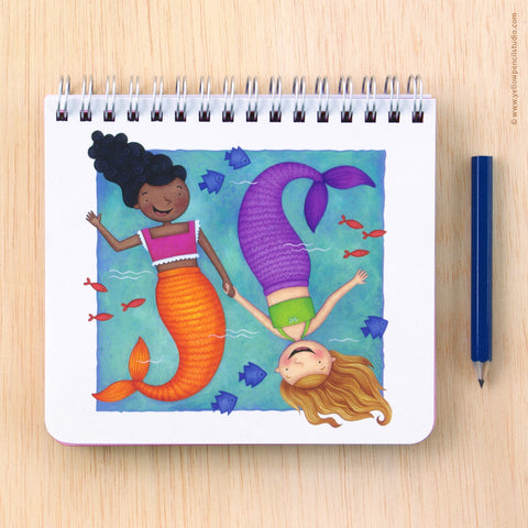 Mermaid Spiral Notebook - Yellow Pencil Studio