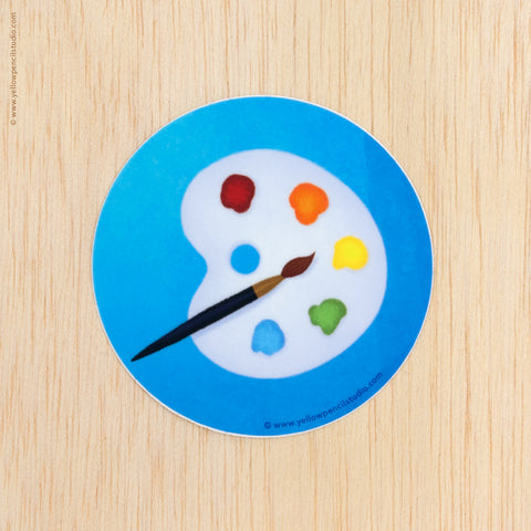 Artist Palette Sticker - Yellow Pencil Studio