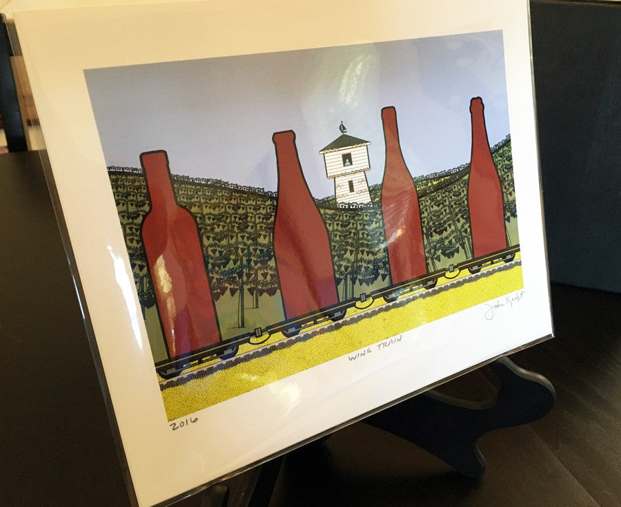 Wine Train (ready-to-frame archival print) Signed and Dated
