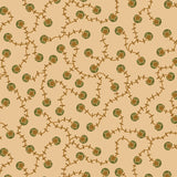 Small Gold and Green Design on Cream from the Helping Hands Collection by Kim Diehl for Henry Glass Fabrics