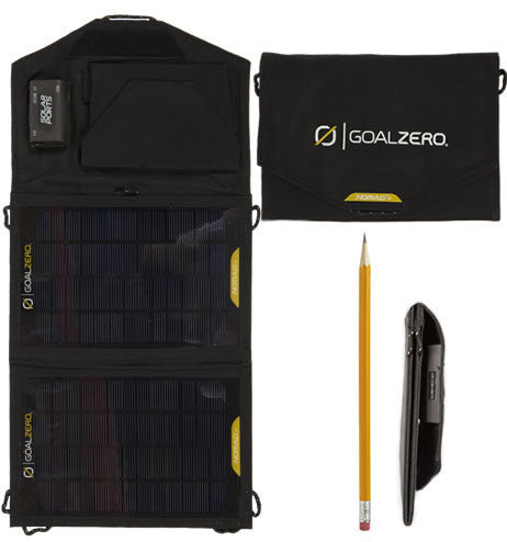 Nomad 7 Solar Panel compared to pencil