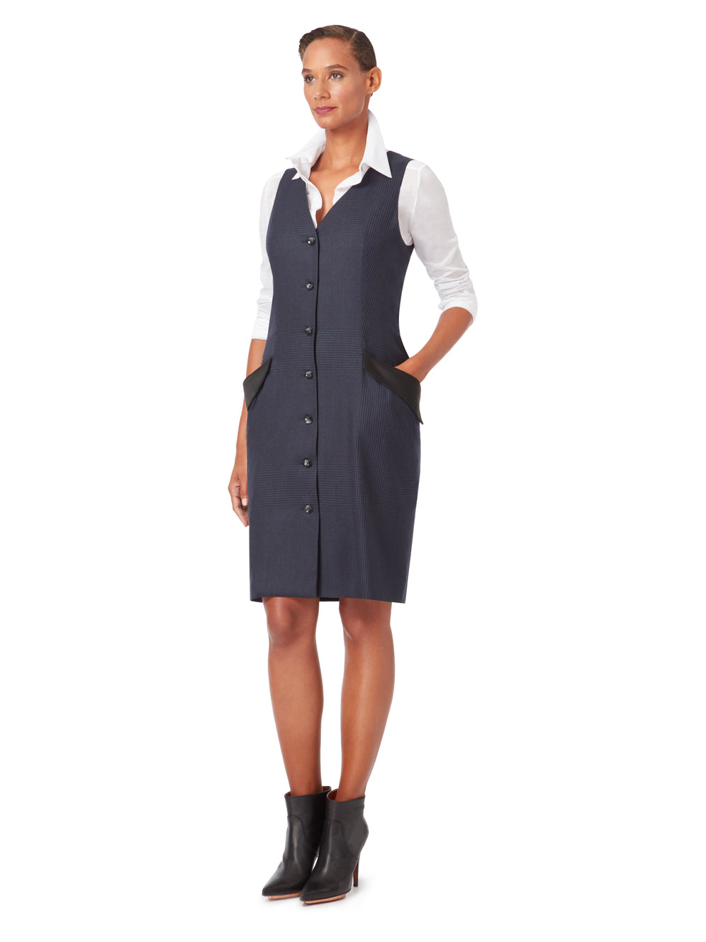 D110B_BIRCH_Button-Down Pinafore Dress