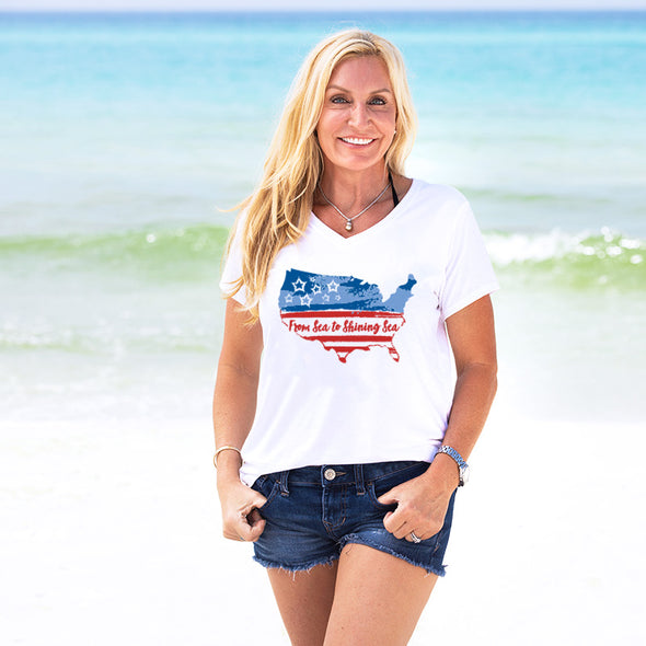 30A From Sea to Shining Sea Recycled V-Neck