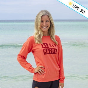 Block Beach Happy Recycled Long Sleeve Sun Shirt