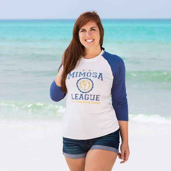 30A Mimosa League Recycled Baseball Tee