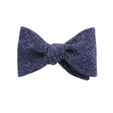 Navy Twill Self Tie Bow Tie from DIBI