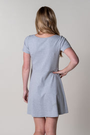Harberton Fit N Flare Dress In Grey Marl