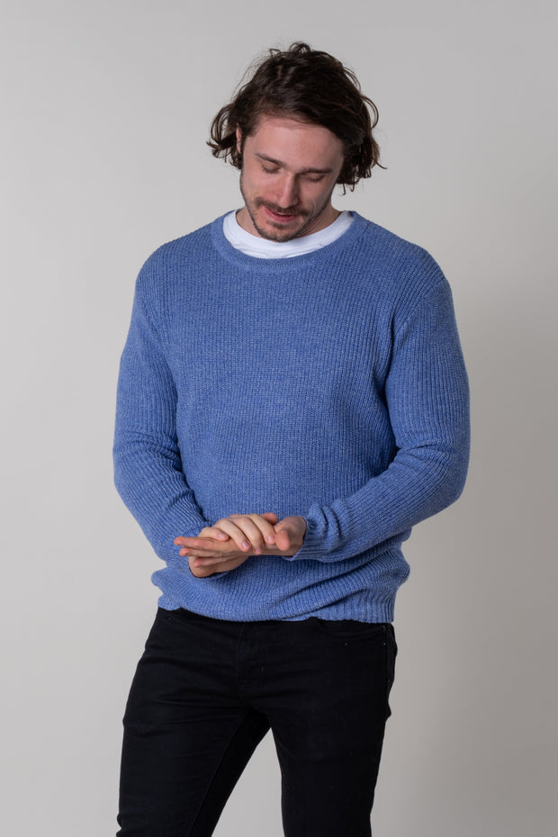 Beeson Texture Knit Jumper In Navy
