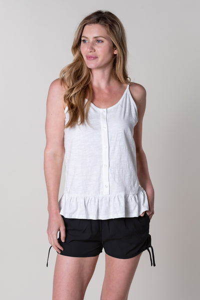 Dittisham Jersey Vest In White
