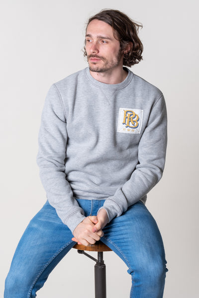 Salcombe Crew Neck Jersey In Grey Marl