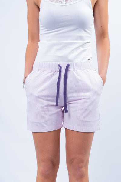 Bideford Lounge Shorts In Rouge Stripe