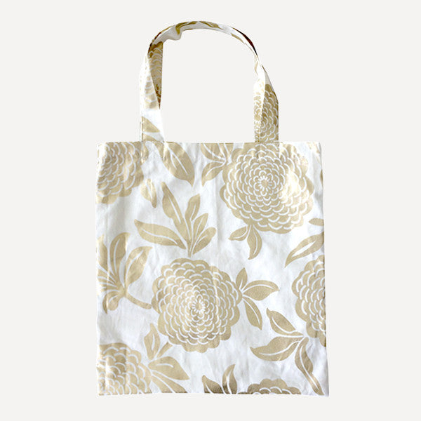 Gold Peony Tote Bag - Readymade Objects Shop - 1