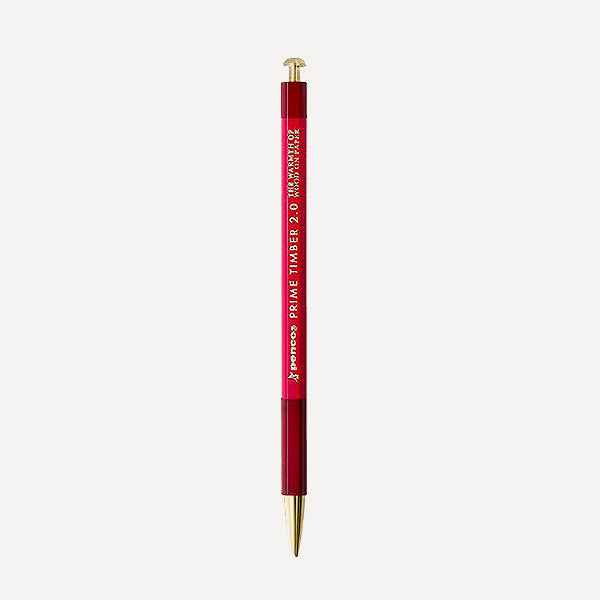 PENCO Prime Timber-Brass Mechanical Pencil, Red Color - Readymade Objects Shop - 1