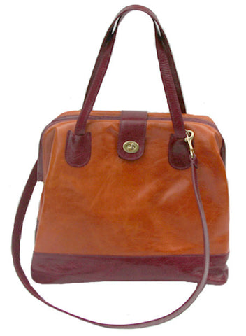 Picture of Marco Doctor Bag in Mango & Cherry Leather