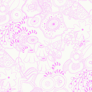A-8070-E Sun Print Light Grow in Taffy by Alison Glass for Andover Fabrics from Pink Castle Fabrics