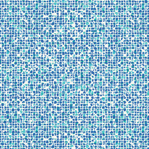 WPA-54507 West Palm Plash Mosaic in Azure by Katie Skoog for Art Gallery Fabrics from Pink Castle Fabrics