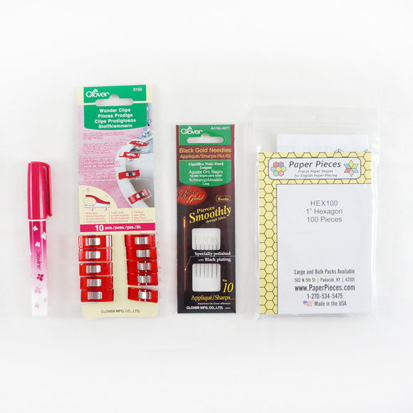 English Paper Piecing Supplies Starter Kit - 1