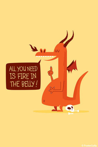 Wall Art, Fire In The Belly | By Captain Kyso, - PosterGully - 1
