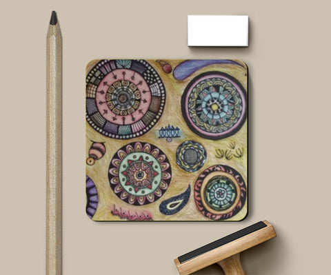 Patterned Coaster Coasters | Artist : Aibileen Finch