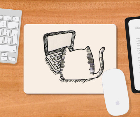 Kitty Mouse Pad Mousepad | Artist : Navdeep Sharma