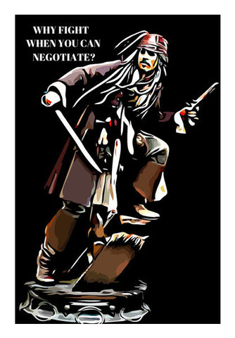 Captain Jack Sparrow Wall Art | Artist : Delusion