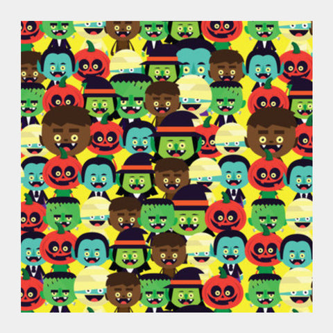 Square Art Prints, HALLOWEEN MONSTERS Square Art | Mona Singh, - PosterGully
